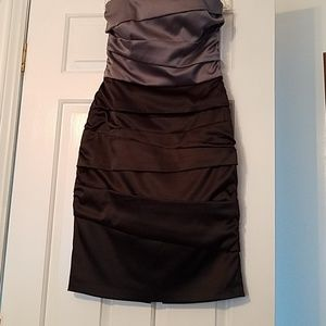 NWOT Strapless White House Black Market Cocktail D